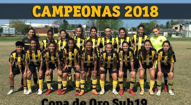 imagen de #FútbolFemenino | ¡Peñarol Campeón de la Copa de Oro Sub 19!