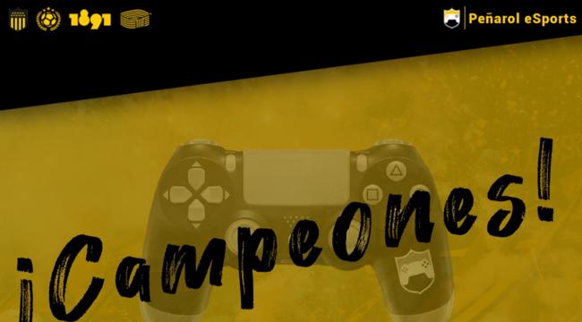 imagen de Peñarol Campeón de la primera Copa eSports