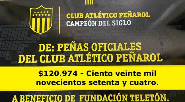 imagen de ¡Peñarol volvió a colaborar con la Teletón!